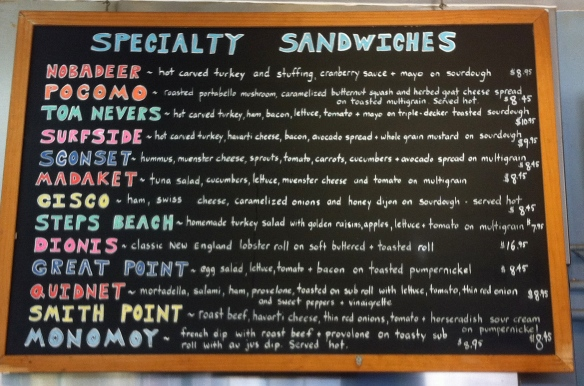 Jetties menu