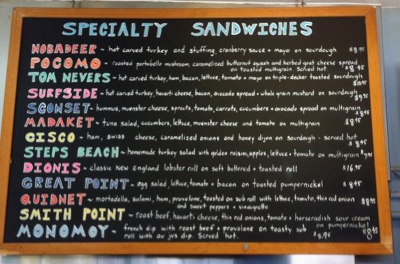 Jetties menu