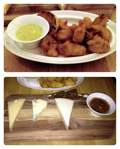 artichokes and cheese board