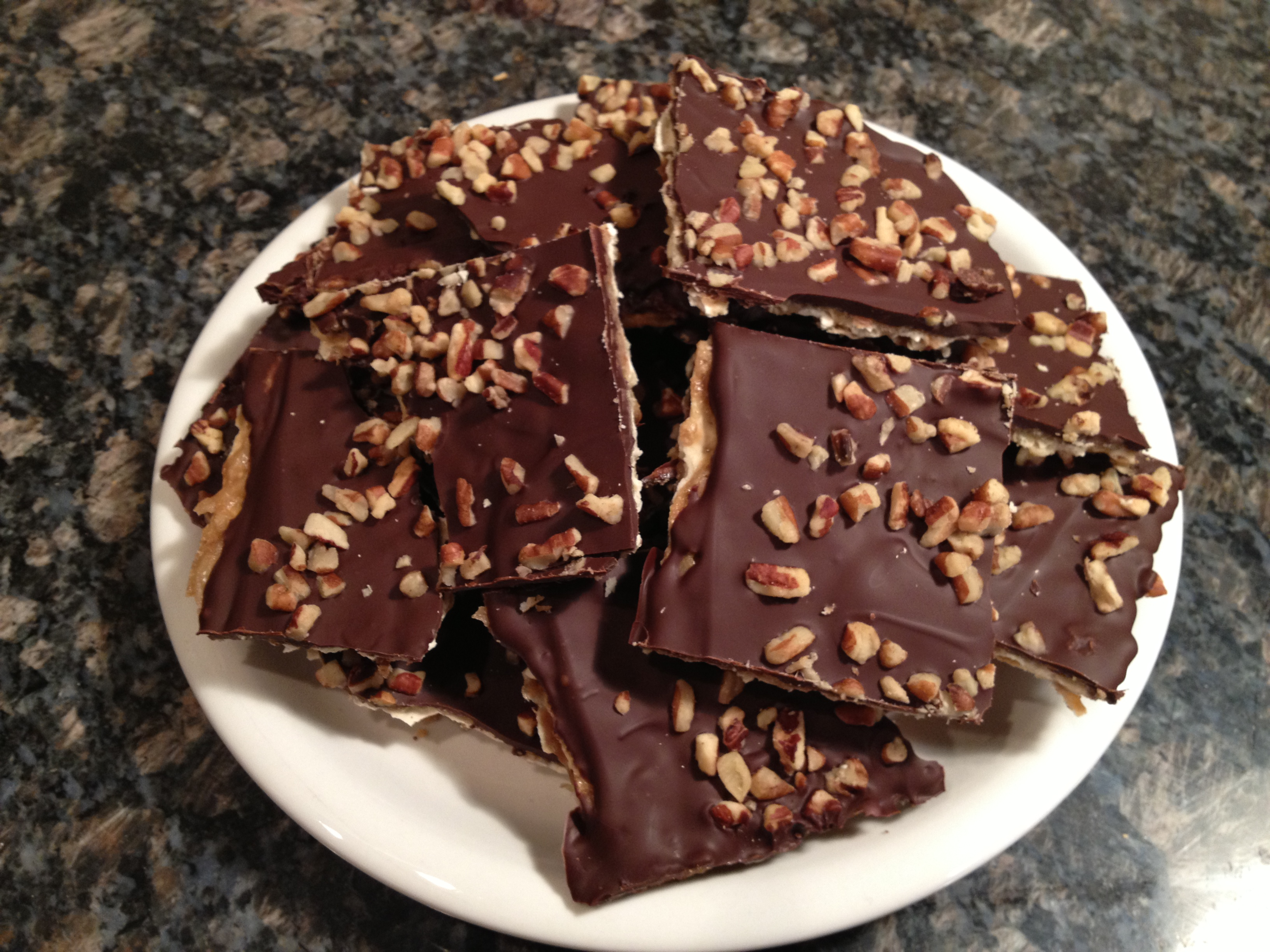 Caramel Chocolate Matzo Crunch! Happy Passover! | Hungry Games