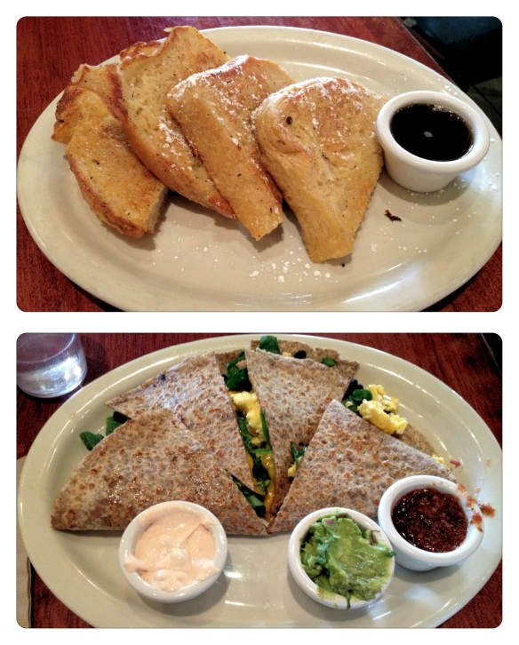 French Toast and Breakfast Quesadilla